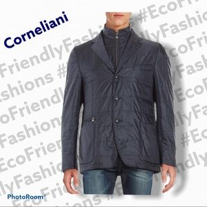 Corneliani Wool Blend Quilted Jacket